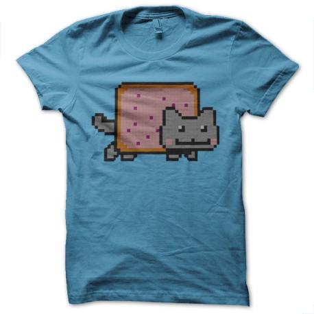 Shirt nyan cat bleu ciel pour homme et femme