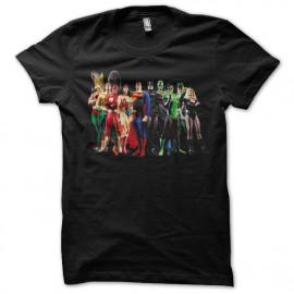 Shirt superhero acteurs noir pour homme et femme