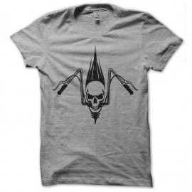 Shirt biker skull gris pour homme et femme