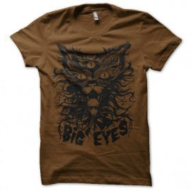 Shirt chat satanique marron pour homme et femme