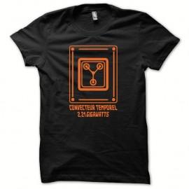 Shirt convecteur temporel spécial édition retour vers le futur orange/noir pour homme et femme