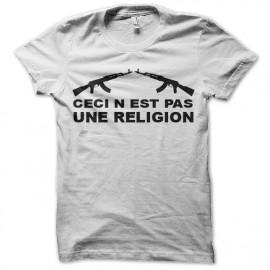 Shirt ceci n'est pas une religion blanc pour homme et femme