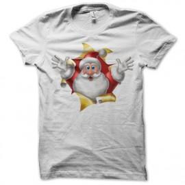 Shirt santa claus bonjour blanc pour homme et femme