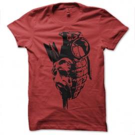 Shirt vision de la guerre artistique rouge pour homme et femme