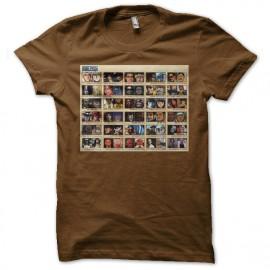 Shirt personnages one piece portrait superstar marron pour homme et femme