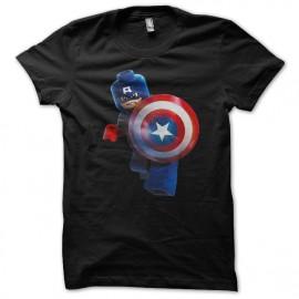 Shirt Captain America lego noir pour homme et femme