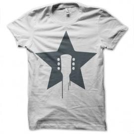 Shirt guitar rock star blanc pour homme et femme