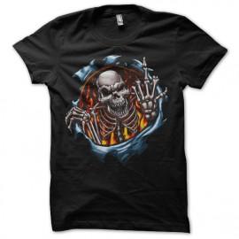 Shirt skull fuck you noir pour homme et femme