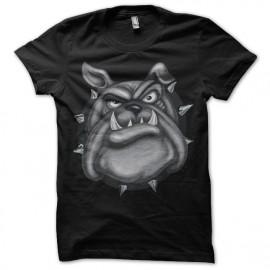 Shirt bulldog noir pour homme et femme