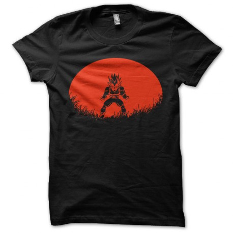 Shirt Vegeta transformation saiyan noir pour homme et femme