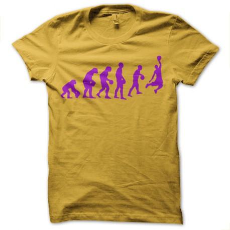 Shirt basket evolution NBA couleur lakers jaune pour homme et femme