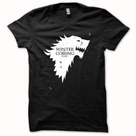 Shirt Game of thrones blason loup blanc/noir pour homme et femme