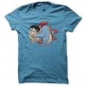 Shirt super fat bleu ciel pour homme et femme
