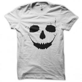 Shirt crack skull blanc pour homme et femme
