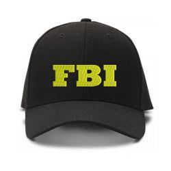 casquette F.B.I brodée de couleur noire