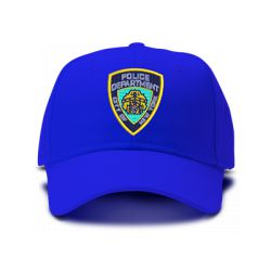 casquette POLICE NEW YORK CITY brodée de couleur bleu royal