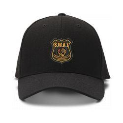 casquette S.W.A.T TEAM brodée de couleur noire