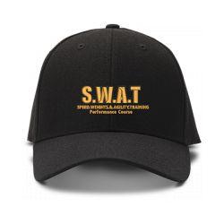 casquette S.W.A.T brodée de couleur noire