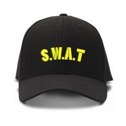 casquette S.W.A.T POLICE brodée de couleur noire