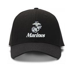 casquette MARINES U.S brodée de couleur noire