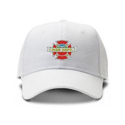 casquette fire department brodée de couleur blanche