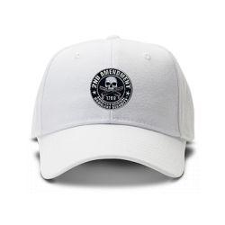 casquette SECOND AMENDEMENT U.S.A brodée de couleur blanche