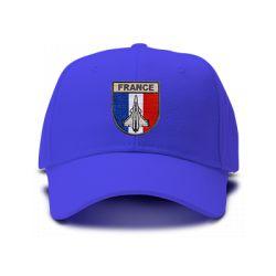 casquette PATROUILLE DE FRANCE brodée de couleur bleu royal