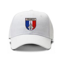casquette PATROUILLE DE FRANCE brodée de couleur blanche