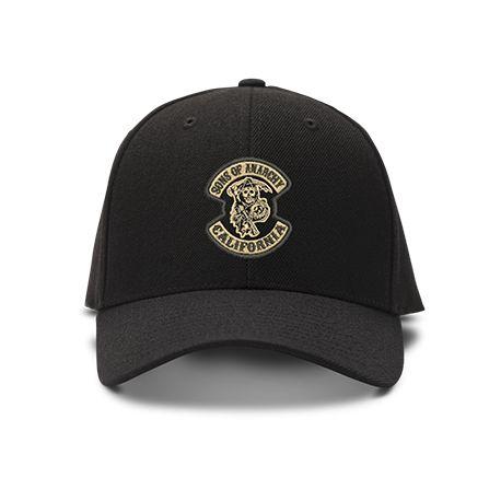 casquette SONS OF ANARCHY CALIFORNIA brodée de couleur noire