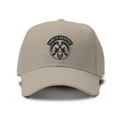 casquette SONS OF ANARCHY gang brodée de couleur beige