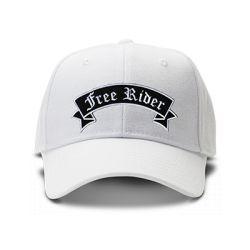 casquette FREE RIDERS brodée de couleur blanche