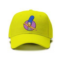 casquette MARGE SIMPSON brodée de couleur jaune