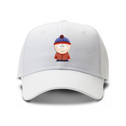 casquette cartman SOUTH PARK brodée de couleur blanche