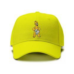 casquette HOMER SIMPSON brodée de couleur jaune