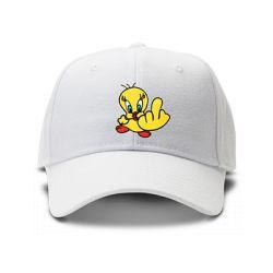 casquette TITI FUCK brodée de couleur blanche