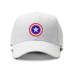 casquette CAPTAIN AMERICA CLASSIC brodée de couleur blanche