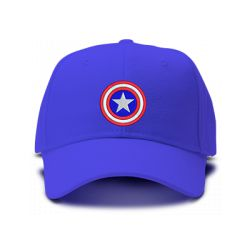 casquette CAPTAIN AMERICA CLASSIC brodée de couleur bleu royal