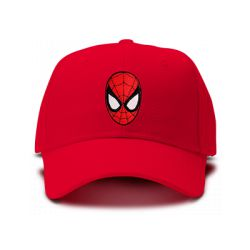 casquette SPIDERMAN FIGURE classic brodée de couleur rouge