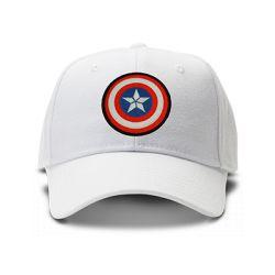casquette CAPTAIN AMERICA special brodée de couleur blanche