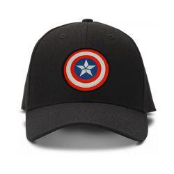 casquette CAPTAIN AMERICA special brodée de couleur noire