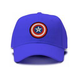 casquette CAPTAIN AMERICA special brodée de couleur bleu royal