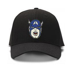 casquette CAPTAIN AMERICA BD brodée de couleur noire