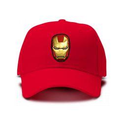 casquette IRON MAN FIGURE brodée de couleur rouge