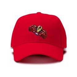 casquette IRON MAN BODY brodée de couleur rouge