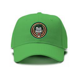 casquette joker psycho brodée de couleur verte