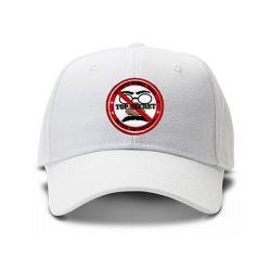 casquette TOP SECRET brodée de couleur blanche