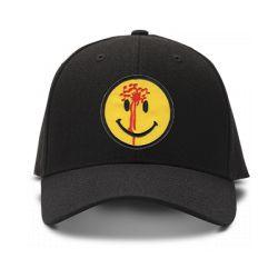 casquette SHOT THE SMILEY brodée de couleur noire