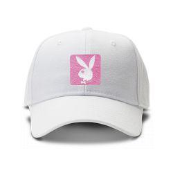 casquette PLAYBOY brodée de couleur blanche