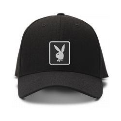 casquette PLAYBOY brodée de couleur noire