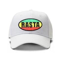 casquette RASTA brodée de couleur blanche